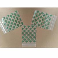 plastikbeutel großhandel-7,5 * 11,5 cm Ziplock Verpackung Taschen Kräuter Wiederverschließbare Tasche Zip-Lock Tasche Poly Bag Baggies Kunststoff Zippy 100 teile / los