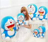 Wholesale Doraemon Bell - 25cm Cute Doraemon Pillow Anime Cartoon Stuffed Animals Plush Toys Children Toys Tinker Bell Cat throw Pillow Doll
