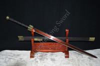 Wholesale Han Jian - Chinese Sword HAN JIAN Red and Black Folded Steel Blade Han Dynasty Sword Can Cut Bamboo Tree