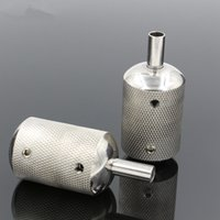 Wholesale Stem Machine - 1PCS Stainless Steel Tattoo Grip 30MM With Back Stem Professional Tattoo Machine Grips Tubes Tips Tool Free Shipping