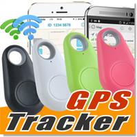 alarma de grabación de voz al por mayor-Mini teléfono inalámbrico Bluetooth 4.0 No hay alarma GPS Tracker iTag Key Finder Grabación de voz Anti-lost Selfie Shutter para iOS Android Smartphone