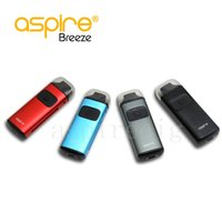 Wholesale Multi Dock - Original Aspire Breeze Kit all-in-one 2ML Ejuice 650mAh Battery U-tech 0.6ohm Coil Top Fill Auto-fire Feature Package Excluding Charger Dock