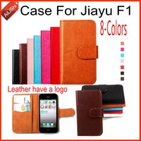 Wholesale Leather Case For Jiayu - AiLiShi For Jiayu F1 Case Luxury PU Flip 8-Colors New Leather Case High Quality Wallet Protective Cover Skin
