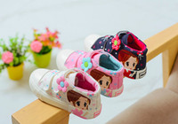 Wholesale Wholesale Plimsolls Shoes - 2017 New Kids Canvas Shoes Frozen Princess Flower Casual Sneakers Plimsolls Candy Shoes For Girls DHL free Shipping