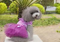 küçük köpek tutu toptan satış-Küçük Köpek Tutu Etekler Elbise Pet Giysi Tül Giyim Kostüm Giydirin Sevimli Prenses Elbise Köpek PD004 Için Elbise
