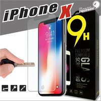 Wholesale Iphone Screen Protectors Packaging - For Iphone X 8 7 Tempered Glass Screen Protector For Iphone X Edition Iphone 6 S6 J3 J7 2017 0.26mm 2.5D 9H Anti-shatter Paper Package