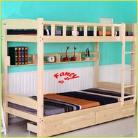 hot sale contracted children bed bunk wood bed mdf with guardrail creative home super strong bearing