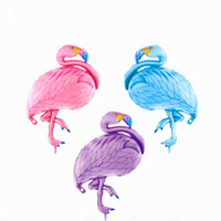 Wholesale Theme Party Animals - lovely flamingo balloon colorful animal theme party happy birthday party decoration balls inflatable foil globo ZA2973