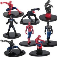 8pcs / set 7cm Superheroes Avengers Spider Man Figure d'action Spiderman Model Toys