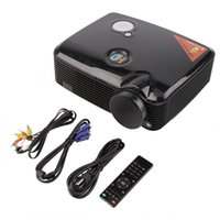 Wholesale Led Tv Tuners - Wholesale-PH5 SVGA (800x600) Support (1280x800) (1024x768) 2D 3D 2500LM HD Home LCD Mini LED Projector with HDMI Input TV Tuner Beamer