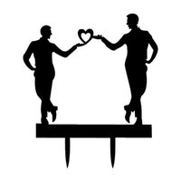 mr araçları toptan satış-Romantik Akrilik Eşcinsel Lezbiyen Düğün Pastası Topper Aynı Seks Düğün Pastası Kart Takılı MR MR Ve MRS MRS Kek Aracı