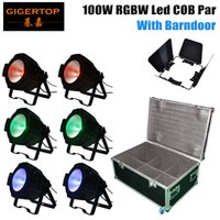 Wholesale projector cases - Stackable 6in1 Flight Case Packing 100W Led COB Par Light RGBW 4IN1 Studio Theater Washer Projector DMX Control Led Stage Lights TP-P55B