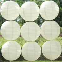 """Wholesale Chinese Lantern Paper Yellow - Free shipping 10 PCS 30 cm (12 """") Chinese round paper the lantern wedding the Lantern Festival decoration mix color"""