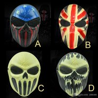 ingrosso volti zombie per halloween-Halloween Chiefs Masks M06 Zombie Skull Mask Personalizzato CS Full Face Skeleton WarriorGame Mask Scary Ghost Mask per Hall
