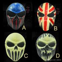 rostos zombis para halloween venda por atacado-Máscaras de Halloween M06 Crânio Zombie máscara personalizada CS completa Rosto esqueleto WarriorGame máscara assustadora Santo Máscara de Salão