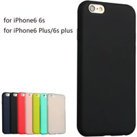Wholesale Iphone Skin Protect - Super Soft Clear TPU matte Case Cover For Iphone 6 6s 6 6s plus Slim Crystal Back Protect Skin Fundas Silicone Coque 7 7 plus