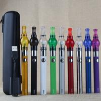Wholesale Single Glass Brush - Free dabber brush EVOD Globe Kit Wax Vaporizer Pen Glass Globe Tank Ceramic Coils Evod ego pouch Dab Oil Shatter Deluxe Vape Kit