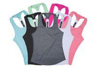 fitness-profi-shirts großhandel-Professionelle Yogaweste ärmelloses Normallack lose schnell trocknend laufend Turnhalle Sport Yoga Shirt Frauen Fitness Tank Top