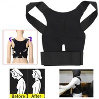 Wholesale Shoulder Back Brace Posture - 1 Pc Lot Magnetic Therapy Posture Support Corrector Correction Body Back Pain Lumbar Belt Shoulder Brace Shoulder Support