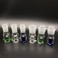 Wholesale Green Screen Wholesale - Free DHL Shipping!!! 10mm 14mm 18.8mm Glass Bowl Female Male Clear Blue Green With Honeycomb Screen Round Glass Bowls For Oil Rigs