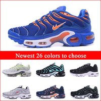 Wholesale Cheap Newest Running Shoes For Men Black White Blue Mens Air Sports TN Shoes Fashion Man Trainers Sneakers Jogging Tennis Athletic Shoes