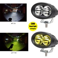 Wholesale Led Fog Lights Motorcycle Cree - CREE 20W LED Flood Work Light Auto Car Offroad Truck DRL Driving Fog Lamp Motorcycle light