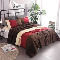 Wholesale Cotton Coverlets King Size - 2017 Spring Summer stripe Cotton 3PC Quilt Set air conditioning bedspread Coverlet Size 228*228cm 10 color