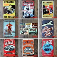 2017 Automobile da garage classica 20 * 30cm con poster ragazza bionda Tin Sign Coffee Shop Bar Ristorante Parete Decorazione artistica Bar Metal Paintings
