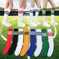 Wholesale performance tube - Sports Socks Stockings Soccer Sock Football Basketball Baby Cheerleading Performances Long Tube Stocking Colorful Popular Fashion Cute 5jr