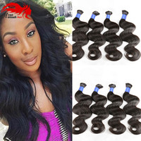 Venda Por Atacado Natural Black Brazilian Hair Bulk Body Wave Não Attachment Micro Mini Bracing Bulk Hair