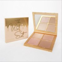 Wholesale radiant cosmetics online - Hot sell The Wet Set color Bronzer Highlighter Pressed Powder Palette Unbothered Get A Way By Brand Cosmetics