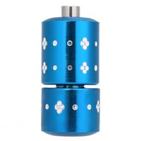 Wholesale Shipping Tube Handle - Wholesale 25mm Diameter Durable Aluminum Alloy Self Lock Handle Grips Tube Tattoo Machine Supply Kit Blue Free Shipping
