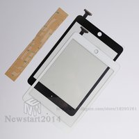 Wholesale Ipad New Screen - for iPad mini 1 2 High Quality 100% Tested Brand New WHITE Touch Screen Glass Panel Touch Screen Digitizer Replacement with Adhesive Sticker