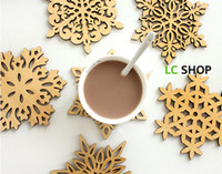 Wholesale Cushion Wood - New style Snow Cup Coaster Cup Mat Wooden porta copos Cushion Holder Drink cup Placemat coffee pad Saucer