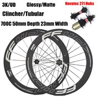 Wholesale ffwd rims for sale - Group buy FFWD Bicycle Wheels mm Carbon Rims C Carbon Wheelset Clincher Tubular Available Carbon Road Wheel With Black Novatec Hubs