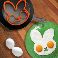 Wholesale Silicone Rabbit Molds - Silicone Omelette Mold Cartoon Animal Small Rabbit Cute Molds Fried Egg Pancake Mould Eco Friendly Moulds Easy To Clean 3mk I1 R