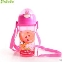 Wholesale Nail Learn - Wholesale-Mambobaby 2016 High quality BPA Free baby cartoon animal bottle 400 mL children kids learn to drink cup bottle mamadeira
