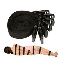 Wholesale sex toys full body - 7-in-1 Set Nylon Ribbon Sex Bondage Kit Slave Restraint Full Body Bind Belt whole Body Harness Sex Toys