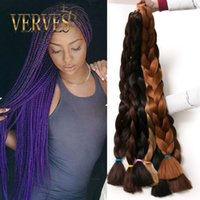 Venda quente Synthetic Kanekalon Braiding Hair 42inch 165g / pcs Kanekalon Jumbo Braid Bulk Kanekalon Africano Tressamento Hair style Crochet Hair