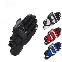 Wholesale Finger Bmx - Wholesale- Free Shipping MOTOGP Motorcycle Racing S1 Gloves Leather glove Motocross Motorbike Guantes BMX ATV MTB bicycle cycling Motorbike