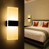 Wholesale Wholesalers For Light Fixtures - Modern Acrylic 6w LED Wall Lamp Aluminum Lights Fixture On Off Decorative Sconce Night Light for Pathway Staircase Bedroom Balcony Drive W