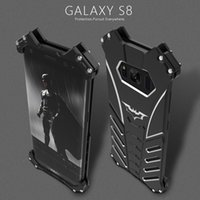 Wholesale Galaxy R Cover - R-JUST batman for samsung galaxy S8 metal aluminum Shockproof Cover case s8 plus Armor anti-knock phone cases