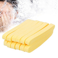 Wholesale Foam Sponge Stick - 6 Pairs Compressed Sponge Foam Sticks Facial Cleaning Mat Pad Reusable Cleanser Strips Face Washing Cleansing Product