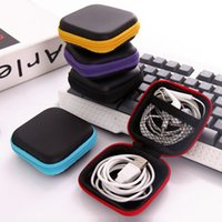 Wholesale Cable Storage Boxes - Storage Bag Case For Earphone EVA Headphone Case Container Cable Earbuds Storage Box Pouch Bag Holder(without earphone)