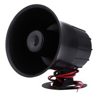 Wholesale Power Horns Speakers - 12V 15W Car Siren Motorcycles Loud Alarm Sound Horn Speaker Of 6 Different Sounds High decibels And Low Power Consumption