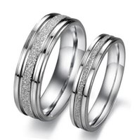 Wholesale Lowest Price Ring Couples - 316L Stainless Steel Rings OPK Classical Simple Design Lover's Wedding Rings Personalized Dull Polish Women Men Couple Jewelry Low Price