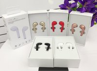 Wholesale Earbuds Iphone Box - HBQ i7 Mini Bluetooth Twins Earphones Handsfree True Wireless Headset Earbuds in Ear Earpiece with Mic for iPhone Android with Retail Box