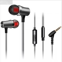 Wholesale Luxury Cell Earphones - 3.5mm Original Earphones Headset Headphones iPhone 6 6s Headset Stereo In Ear Luxury Stereo Noise Cancelling Bass with Mic D03-M-Gray