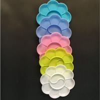 kunsthandwerk materialien großhandel-Neue Design-Kunststoffpalette 5 Farbe Malen Sie Palette Kunstwerkzeuge Fertigkeit Material Malzubehör 8 cm Zeichnung Spielzeug Kindergarten Werkzeuge