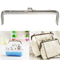 Wholesale Metals Frames For Purses - Metal Silver Purse Frame Handles purse Clasp Diy Handbag Holder Accessories for Bagbag Frame Bag Handle